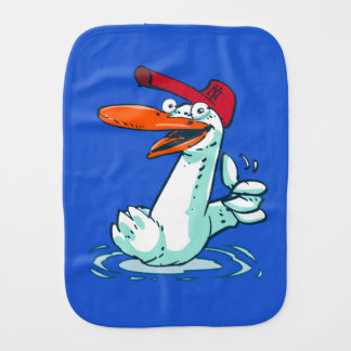sweet duck on the lake cartoon burp cloth