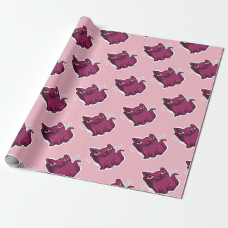 sweet elegant kitty sitting and smiling wrapping paper