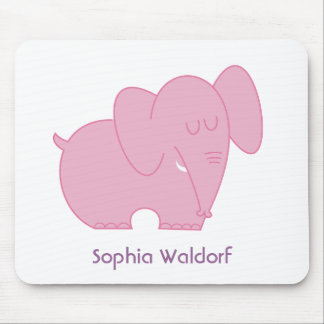 Sweet Elephant (Pink) Mouse Pad