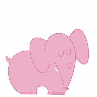 Sweet Elephant (Pink) Standing Photo Sculpture