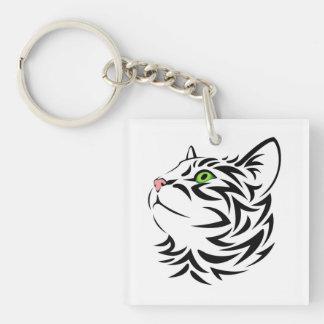 Sweet Face Kitty Acrylic Keychain