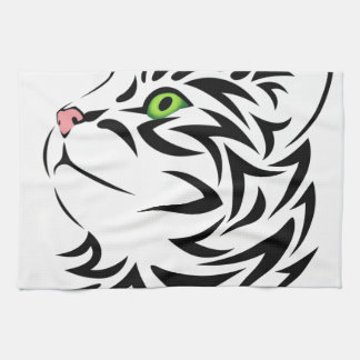 Sweet Face Kitty Cat Kitchen Dish Towel