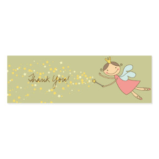 Sweet Fairy and Stars Thank You Gift Tag / Card / Business Card