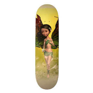 Sweet fairy with mystical background skate boards