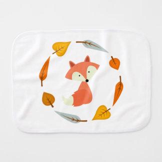 Sweet Fall Fox Burp Cloth