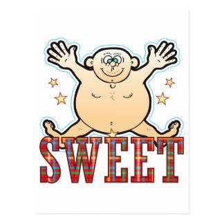 Sweet Fat Man Postcard