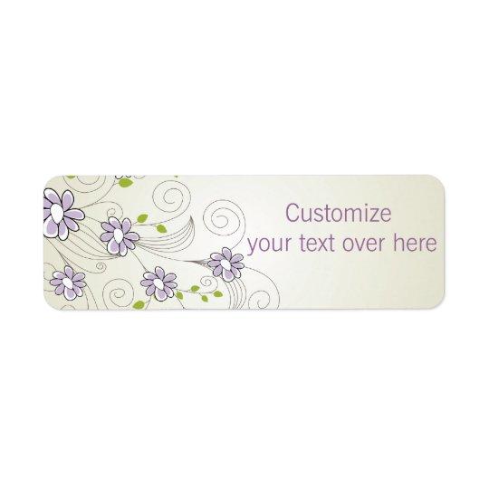 Sweet Floral  Address Labels