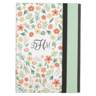 Sweet Florals Monogrammed iPad Air Case