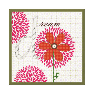 Sweet Flower Blossoms Dream Stretched Canvas Prints