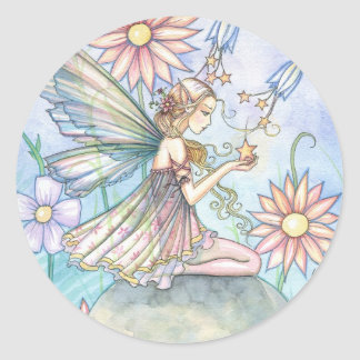 Sweet Flower Fairy Art by Molly Harrison Classic Round Sticker