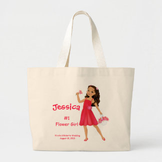 Sweet Flower Girl Large Tote Bag
