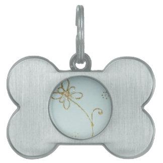 Sweet flower pet ID tag