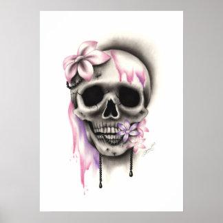 Sweet Flower Skull Poster
