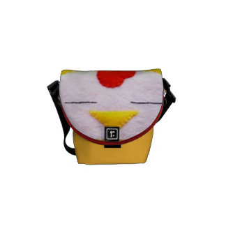 Sweet fluffy chicken courier bag