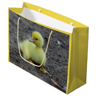 Sweet Fluffy Duckling Yellow Large Gift Bag