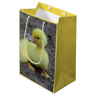 Sweet Fluffy Duckling Yellow Medium Gift Bag