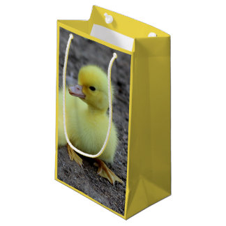 Sweet Fluffy Duckling Yellow Small Gift Bag