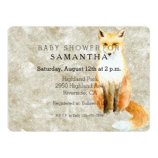 Sweet Fox Baby Shower 17 Cm X 22 Cm Invitation Card