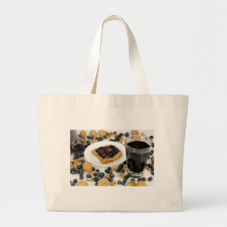Sweet Fruit Nut Treats Large Tote Bag