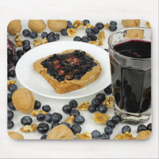 Sweet Fruit Nut Treats Mouse Pad
