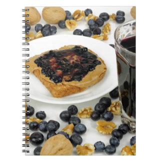Sweet Fruit Nut Treats Spiral Notebook