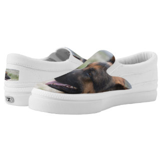 Sweet German Shepherd Dog Slip-On Shoes