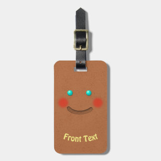 Sweet Gingerbread Cookie Cartoon Luggage Tag