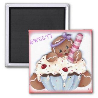 Sweet Gingerbread Dessert Magnet