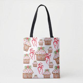 Sweet Gingerbread House Cookie Tote Bag