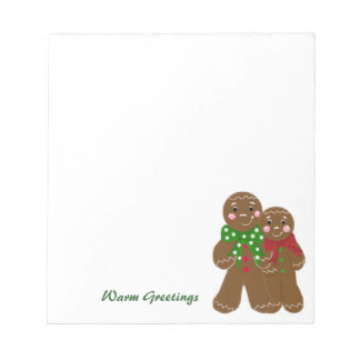 Sweet Gingerbread Men Notepad