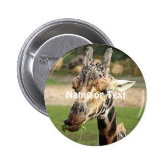sweet giraffe 6 cm round badge