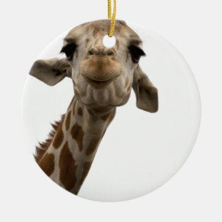 Sweet Giraffe Ceramic Ornament