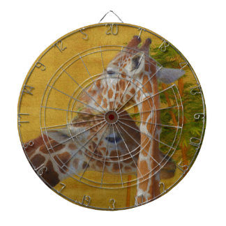 Sweet Giraffes - Painting Dartboard