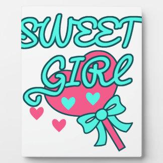 sweet girl design plaque