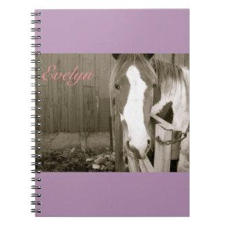 Sweet Girl Horse Notbook Spiral Notebook