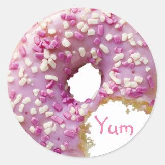 SWEET Glazed Donut Classic Round Sticker