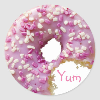 SWEET Glazed Donut Round Sticker