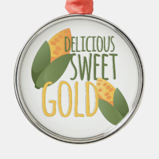 Sweet Gold Metal Ornament