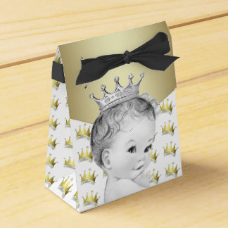 Sweet Gold Prince Baby Shower Favour Box