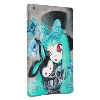 Sweet Gothic Girl With Bunny iPad Air Cases