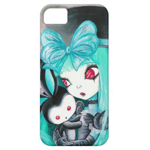 Sweet Gothic Girl With Bunny (Detail) iPhone 5/5S Case