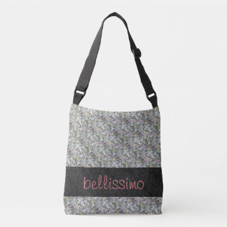 Sweet Granite Rock with Pastels any Text Crossbody Bag