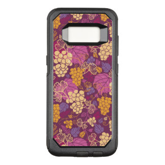 Sweet grape vines pattern background OtterBox commuter samsung galaxy s8 case