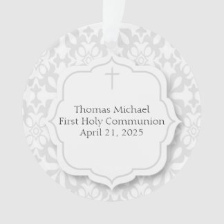 Sweet Gray Damask, Religious Ornament