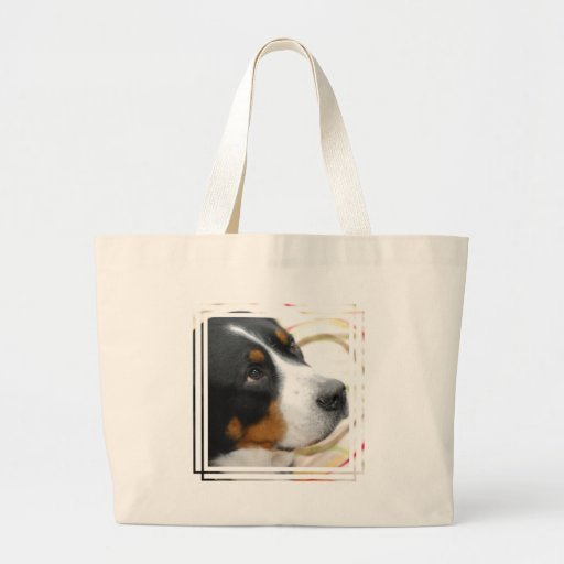 Sweet Greater Swiss Mountain Dog Canvas Bags