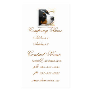 Sweet Greater Swiss Mountain Dog Business Card Template