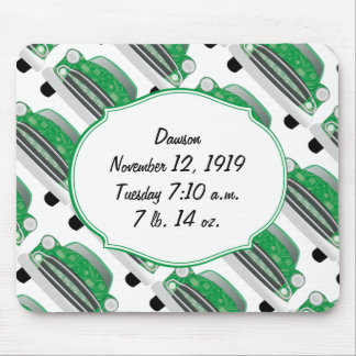Sweet Green Baby Shower Stat Gifts Mouse Pad