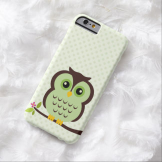 Sweet Green Owl Illustration Barely There iPhone 6 Case