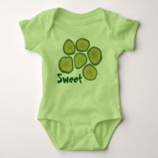 SWEET Green Pickle Chips Kosher Dill Pickles Gift Baby Bodysuit