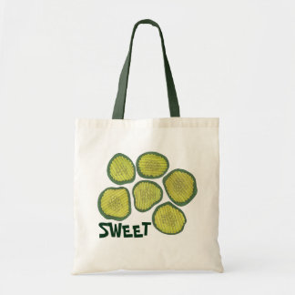 SWEET Green Pickle Chips Pickles Kosher Dill Print Tote Bag